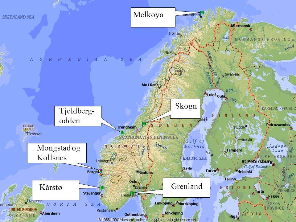 www.tel-tek.no Grenland Kårstø Mongstad og Kollsnes Tjeldberg- odden Skogn Melkøya