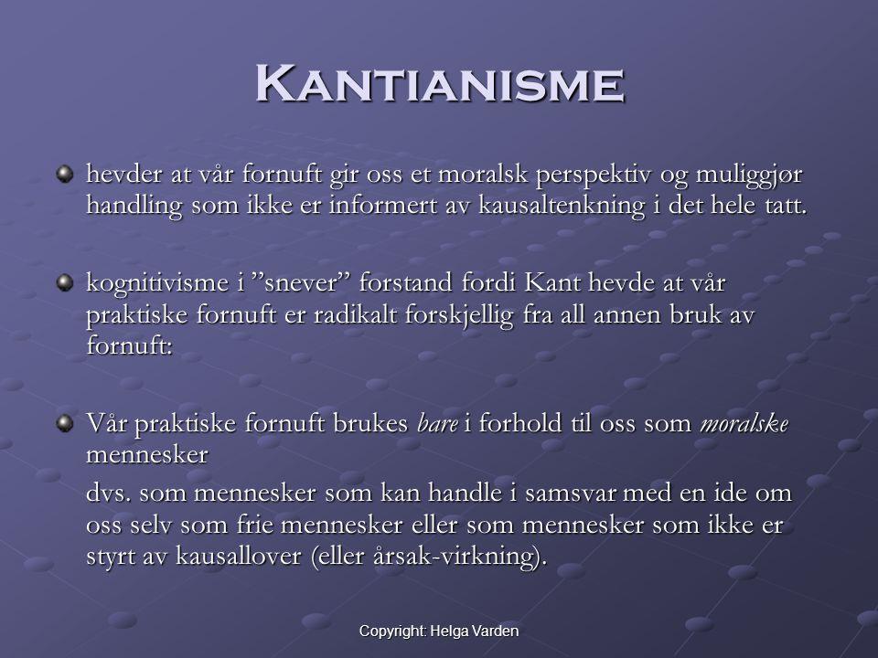 Copyright: Helga Varden I.Skandinavisk rettsrealisme Oversikt over forelesningen A.