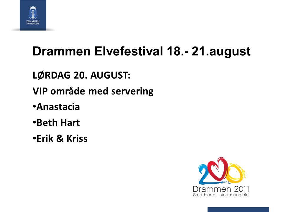 Drammen Elvefestival 18.- 21.august LØRDAG 20.
