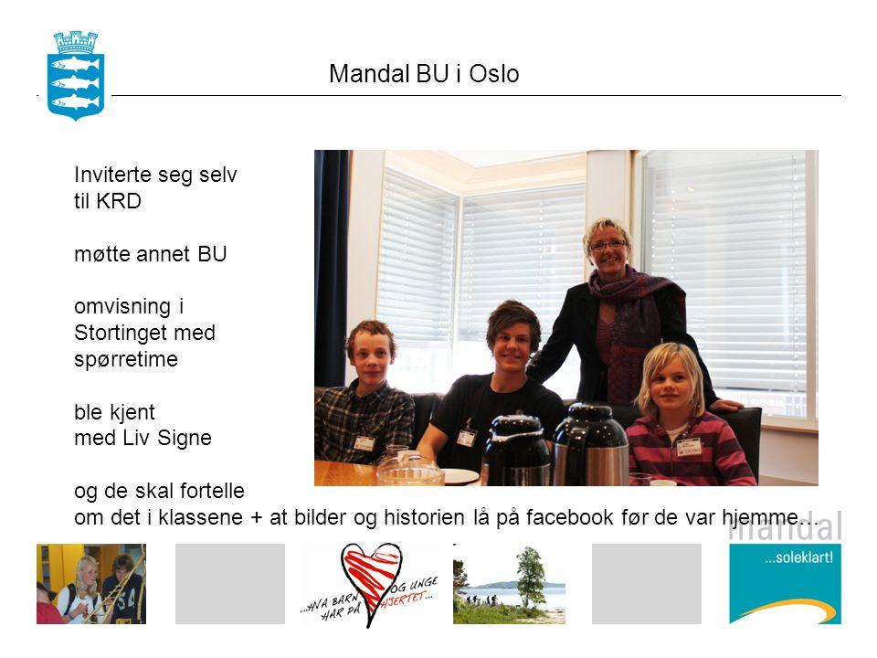 Mandal BU i Oslo Inviterte seg selv til KRD møtte annet BU omvisning i Stortinget med spørretime ble kjent med Liv Signe og de skal fortelle om det i klassene + at bilder og historien lå på facebook før de var hjemme…