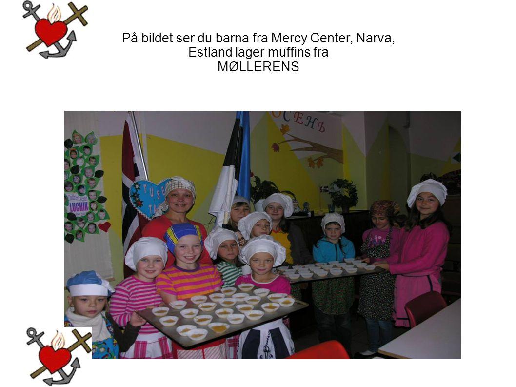 På bildet ser du barna fra Mercy Center, Narva, Estland lager muffins fra MØLLERENS