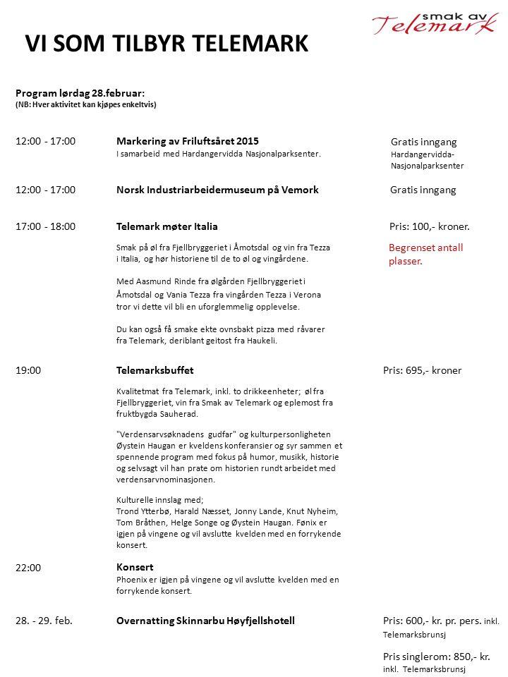 12:00 - 17:00Markering av Friluftsåret 2015 I samarbeid med Hardangervidda Nasjonalparksenter. Gratis inngang Hardangervidda- Nasjonalparksenter Norsk