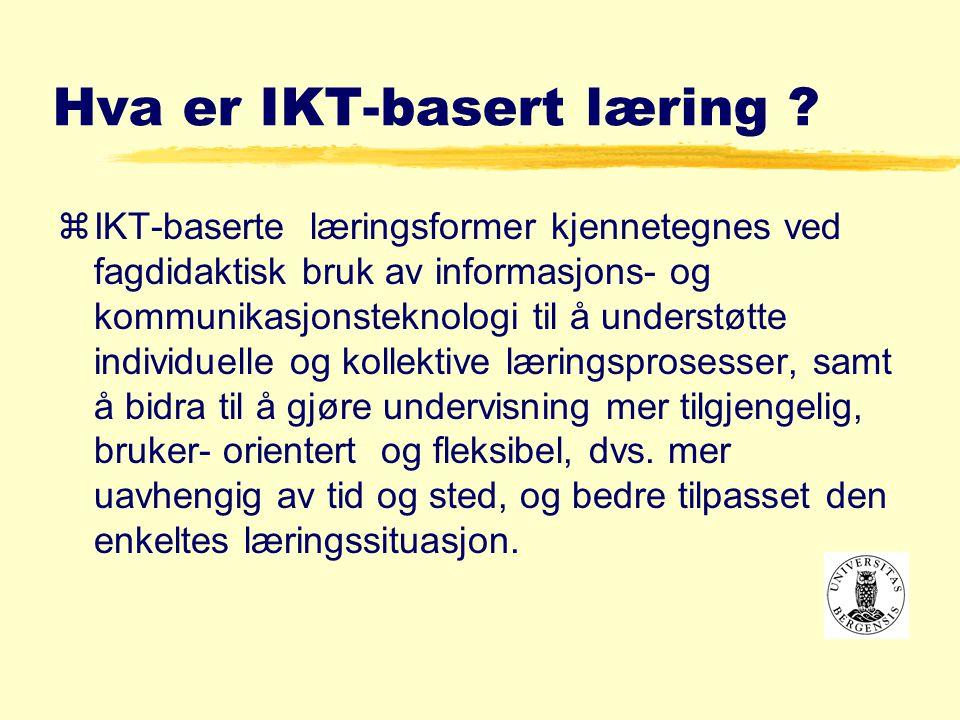 Hva er IKT-basert læring .