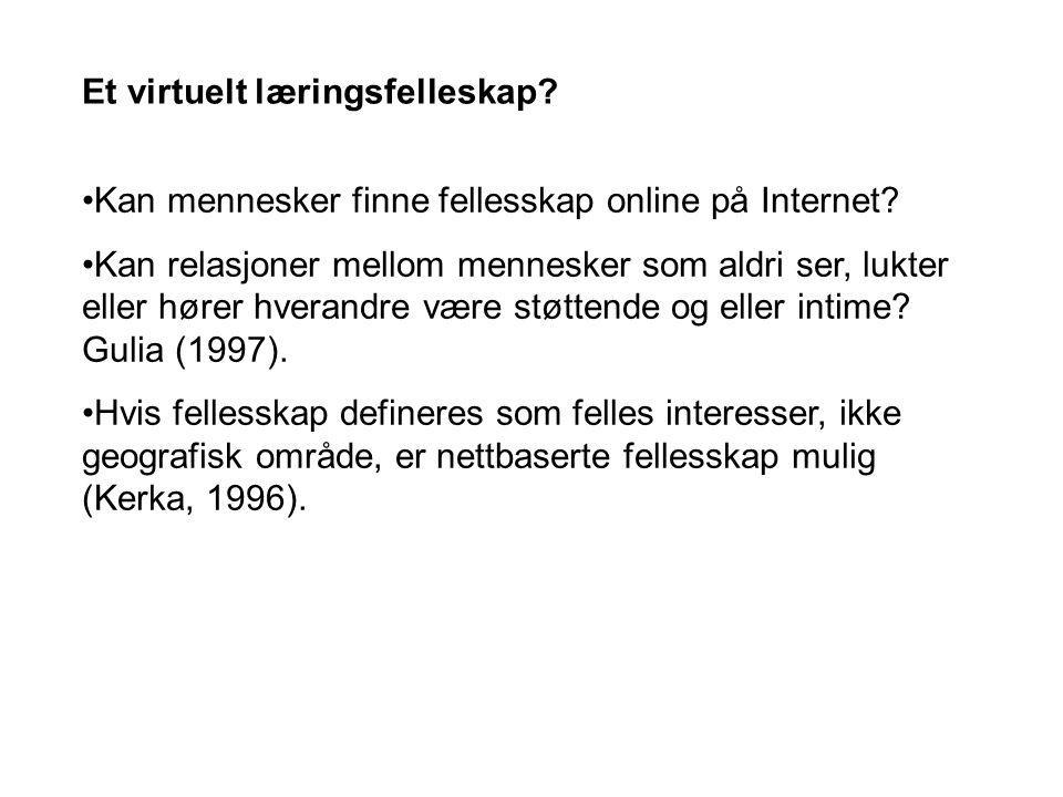 Kan mennesker finne fellesskap online på Internet.