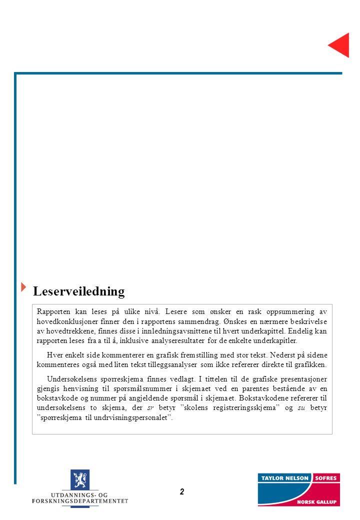 2  Leserveiledning Rapporten kan leses på ulike nivå. Lesere som ønsker en rask oppsummering av hovedkonklusjoner finner den i rapportens sammendrag.