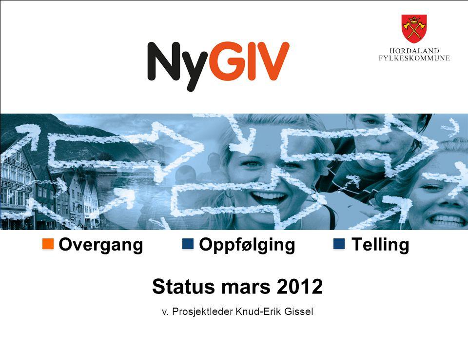 Overgang Oppfølging Telling Status mars 2012 v. Prosjektleder Knud-Erik Gissel