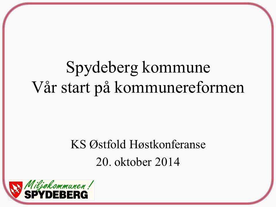 Spydeberg kommune Vår start på kommunereformen KS Østfold Høstkonferanse 20. oktober 2014
