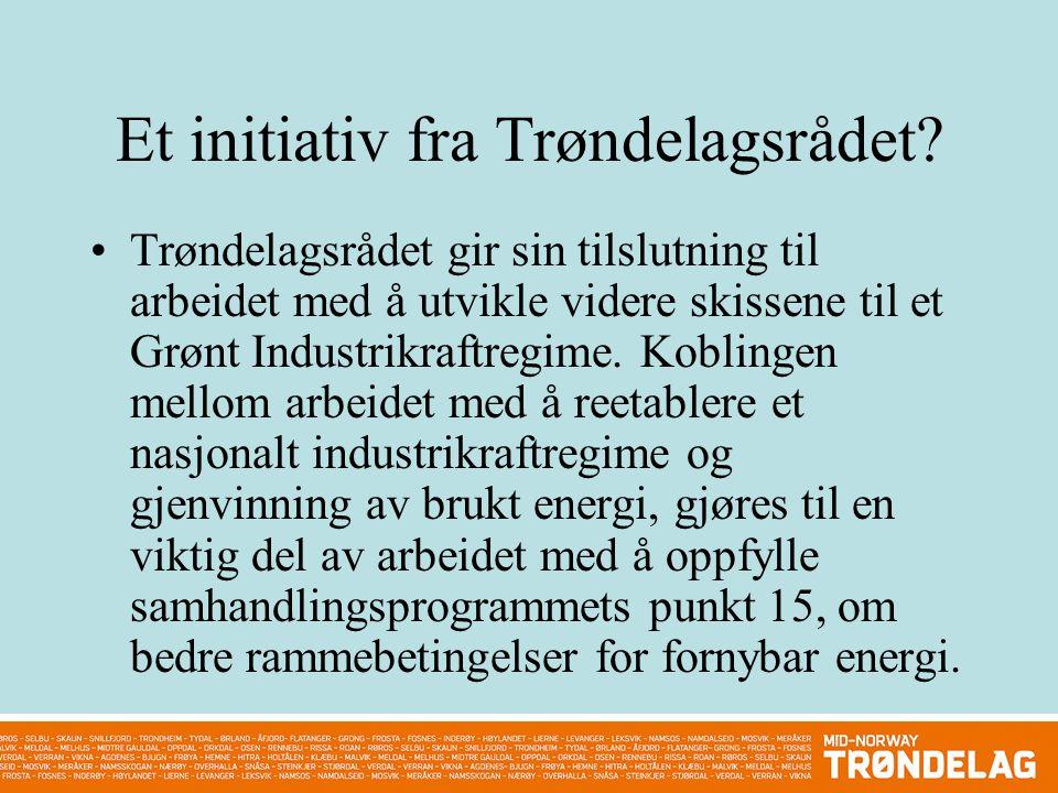 Et initiativ fra Trøndelagsrådet.