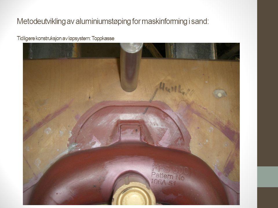 Metodeutvikling av aluminiumstøping for maskinforming i sand: Tidligere konstruksjon av løpsystem: Toppkasse