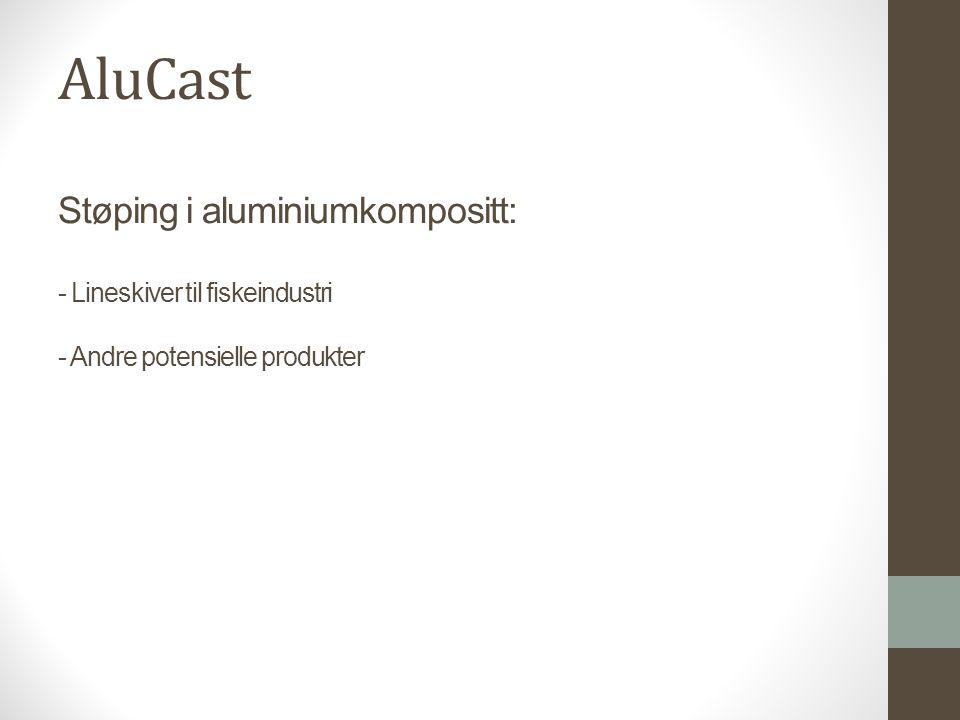 AluCast Støping i aluminiumkompositt: - Lineskiver til fiskeindustri - Andre potensielle produkter