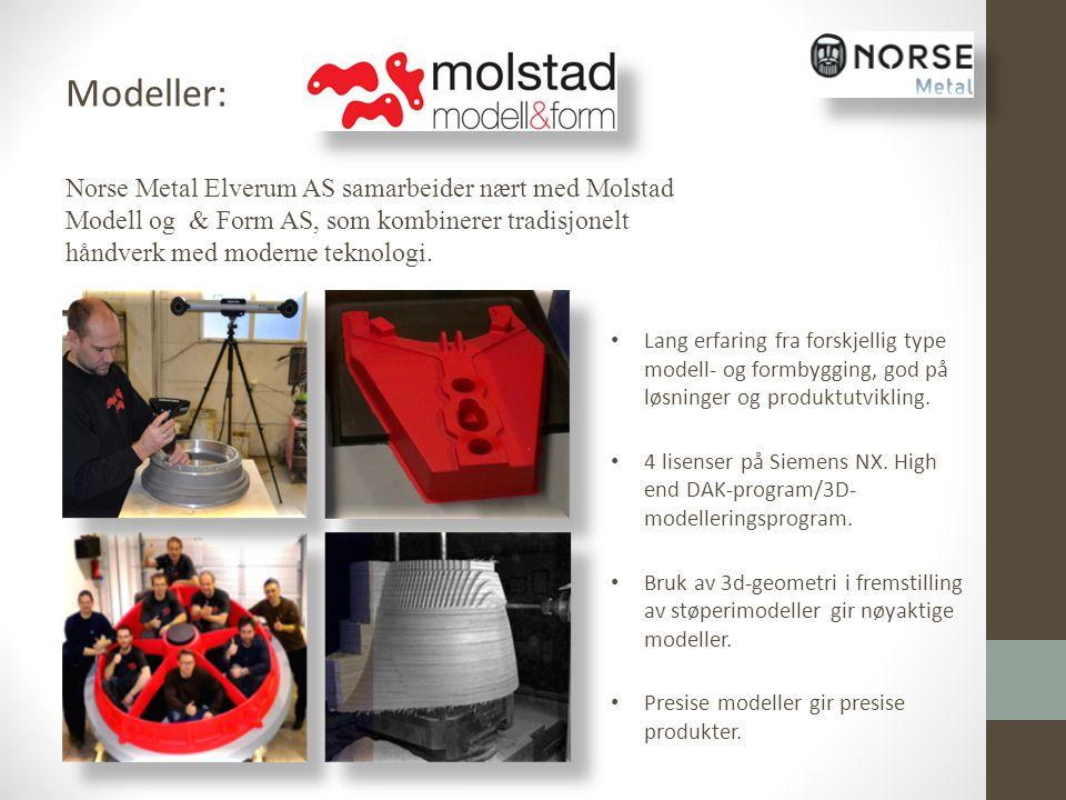 Norse Metal Elverum AS samarbeider nært med Molstad Modell og & Form AS, som kombinerer tradisjonelt håndverk med moderne teknologi. Lang erfaring fra