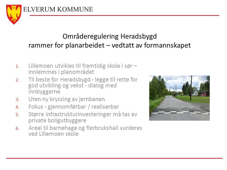 Områderegulering Heradsbygd rammer for planarbeidet – vedtatt av formannskapet 1.