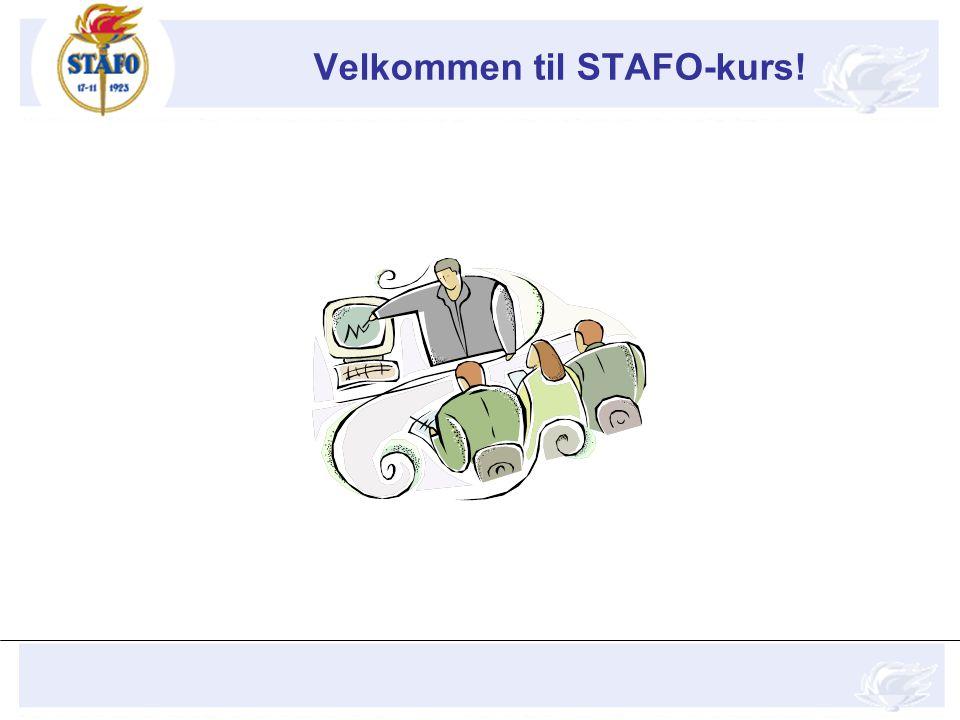 Velkommen til STAFO-kurs!