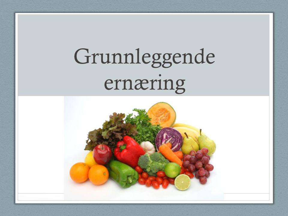 Grunnleggende ernæring