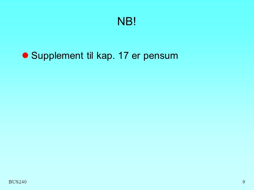 BUS24020 Oppstart av måleserie Bestem antall målinger per utvalg n = 4..