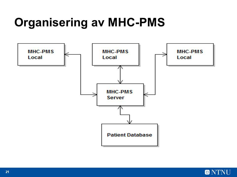 21 Organisering av MHC-PMS