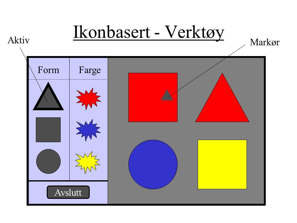 Ikonbasert - Verktøy Form Farge Avslutt Markør Aktiv
