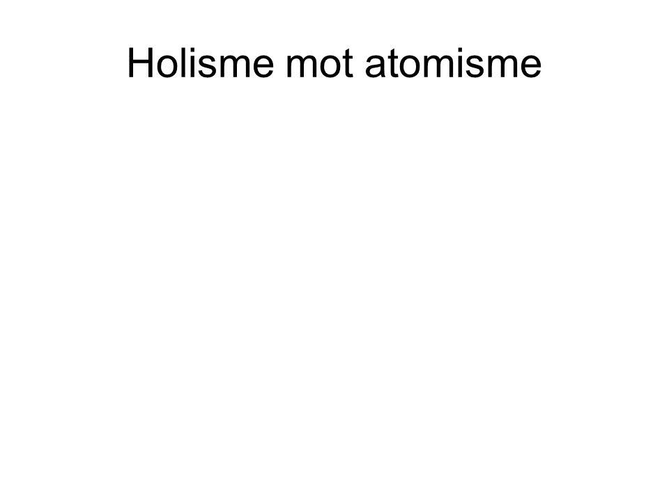 Holisme mot atomisme