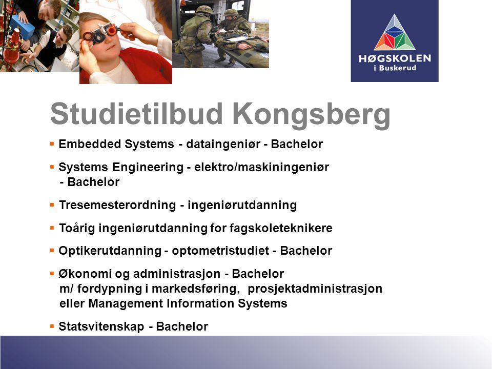  Embedded Systems - dataingeniør - Bachelor  Systems Engineering - elektro/maskiningeniør - Bachelor  Tresemesterordning - ingeniørutdanning  Toår