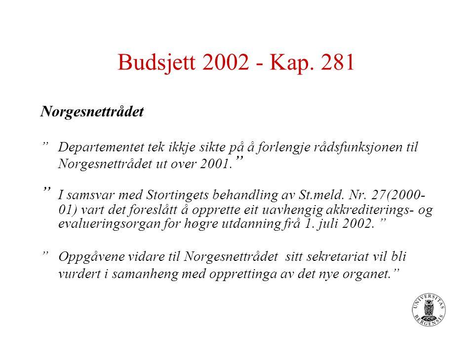 Budsjett 2002 - Kap.