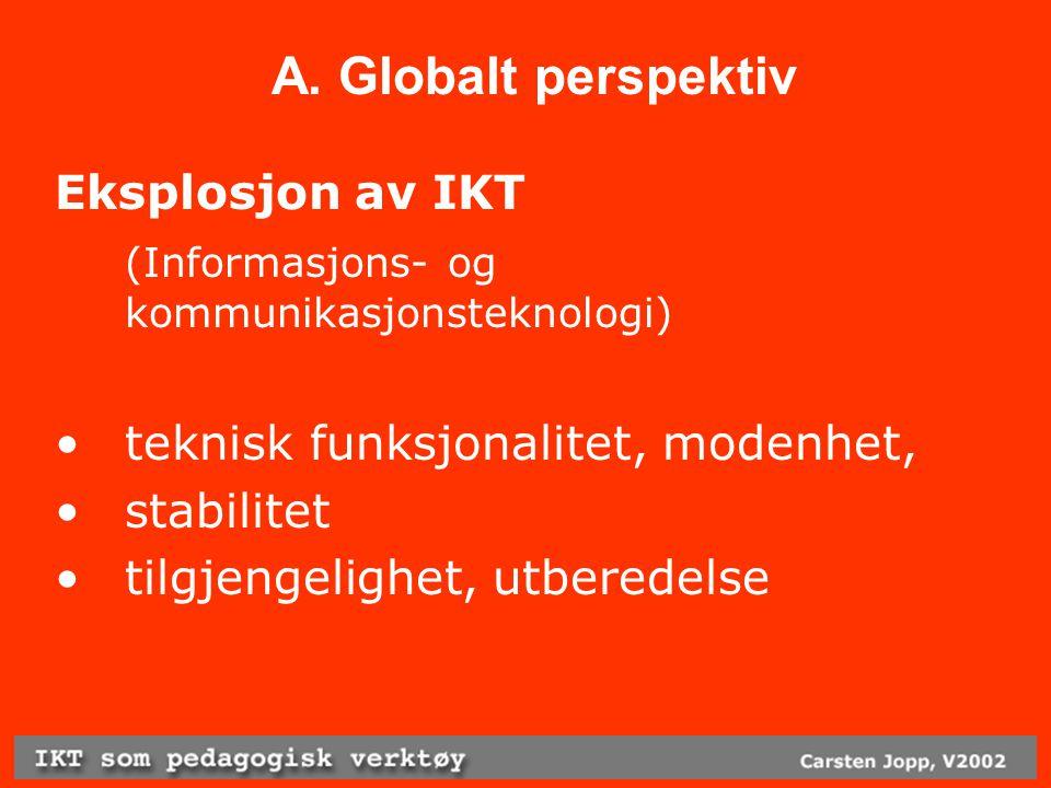 D.Høyere utdanning Innføring av IKT kobles sammen med arbeid til heving av studiekvalitet eks.