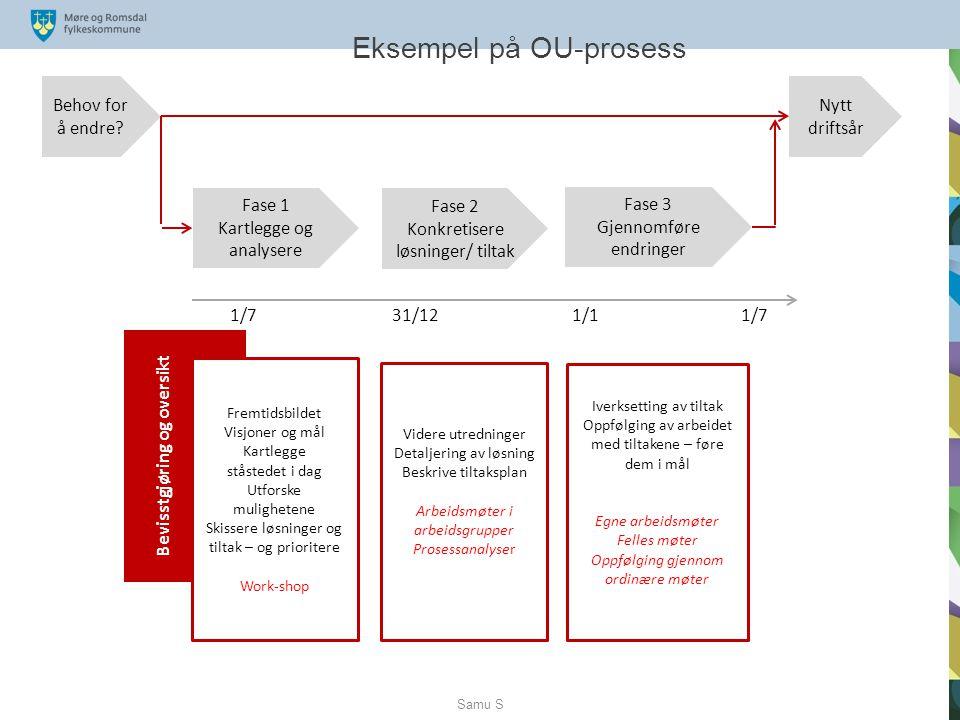 Fase 2: Konkretisere løsninger / tiltak Har etablert 11 arbeidsgrupper.