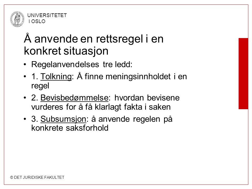 © DET JURIDISKE FAKULTET UNIVERSITETET I OSLO Ministeren om Nav-dommen: - Nav må bruke skjønn der det er mulig Om ni måneder vil problemet med rigide regler for uføretrygd langt på vei være løst, sier Robert Eriksson (Frp).
