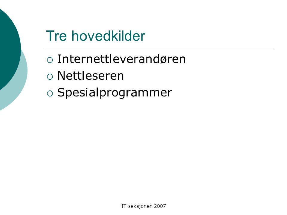 IT-seksjonen 2007 Hva er nettfilter.