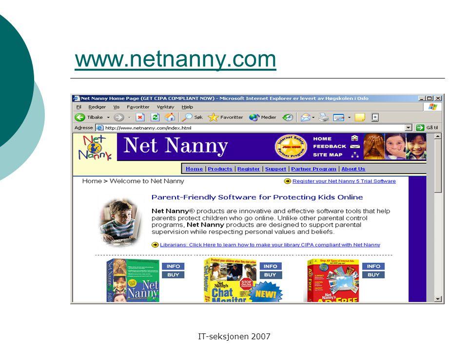 IT-seksjonen 2007 www.kidsurf.no