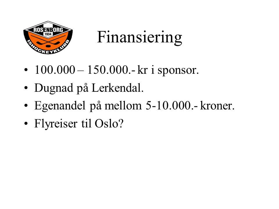 100.000 – 150.000.- kr i sponsor. Dugnad på Lerkendal.