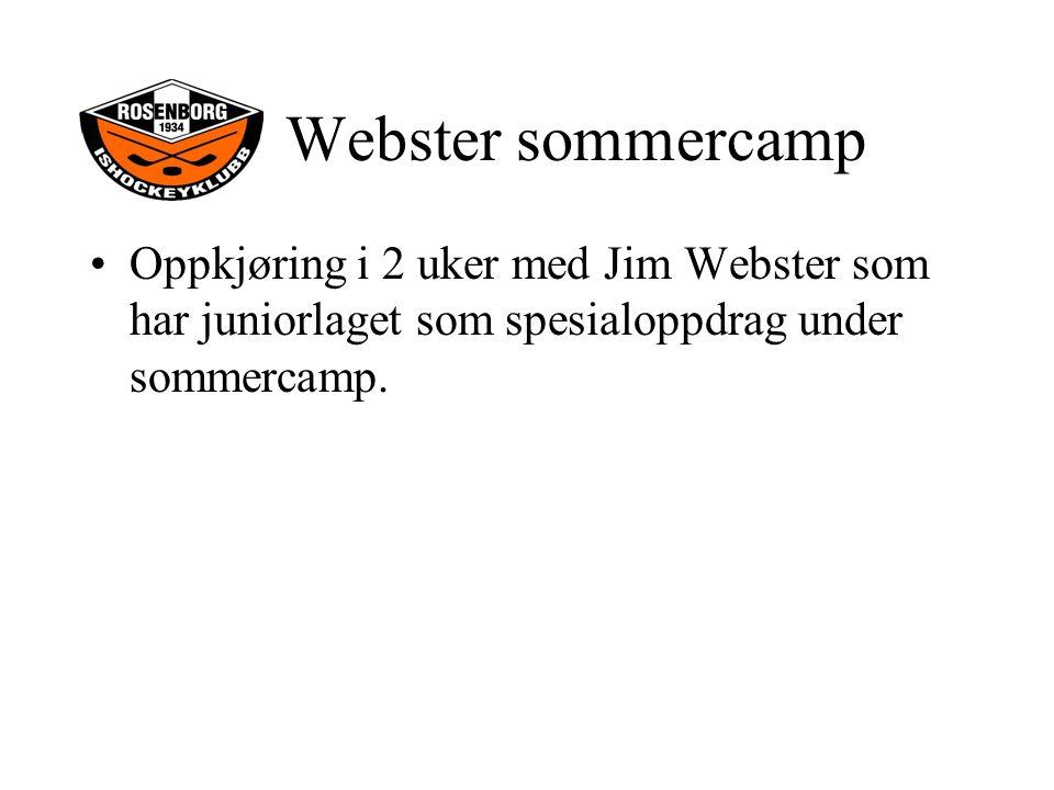 Oppkjøring i 2 uker med Jim Webster som har juniorlaget som spesialoppdrag under sommercamp.