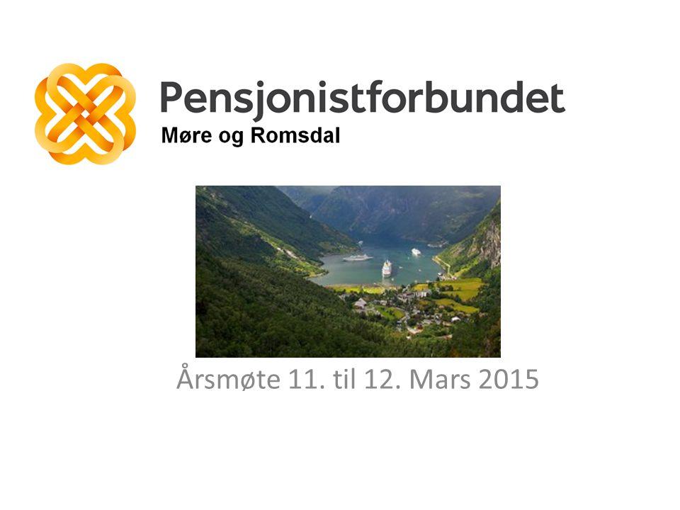 Årsmøte 11. til 12. Mars 2015