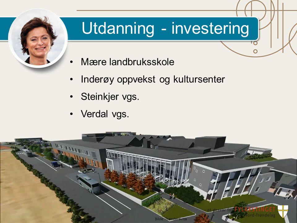 Utdanning - investering Mære landbruksskole Inderøy oppvekst og kultursenter Steinkjer vgs.