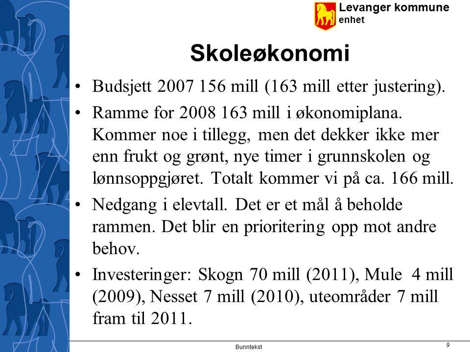 Levanger kommune enhet Bunntekst 10 Oppvekst Levanger – lokale planer Planer Tilpassa opplæring Brukermedvirkning Kompetanseheving