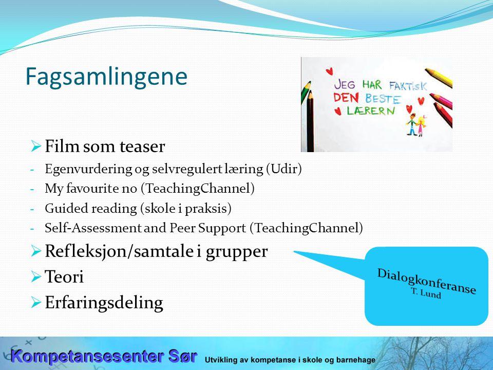 BAKLENGSPLANLEGGING 1. Kompetansemål 2. Vurdering 3. Undervisning