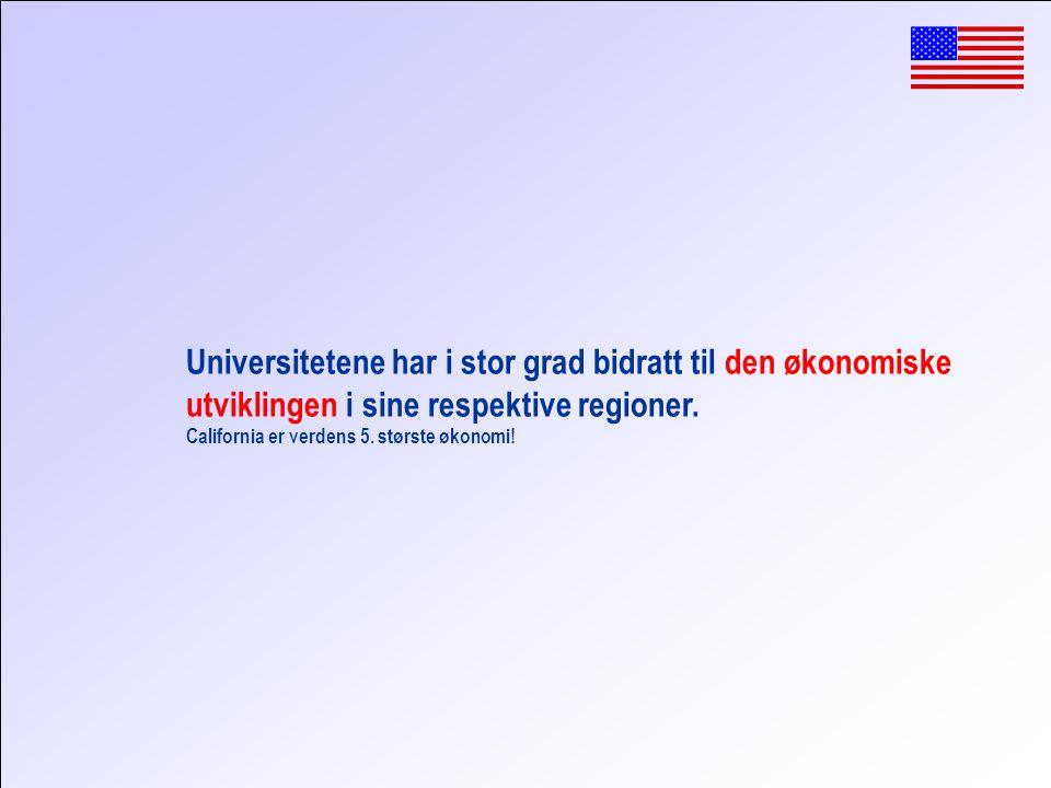 Universitetene har i stor grad bidratt til den økonomiske utviklingen i sine respektive regioner.