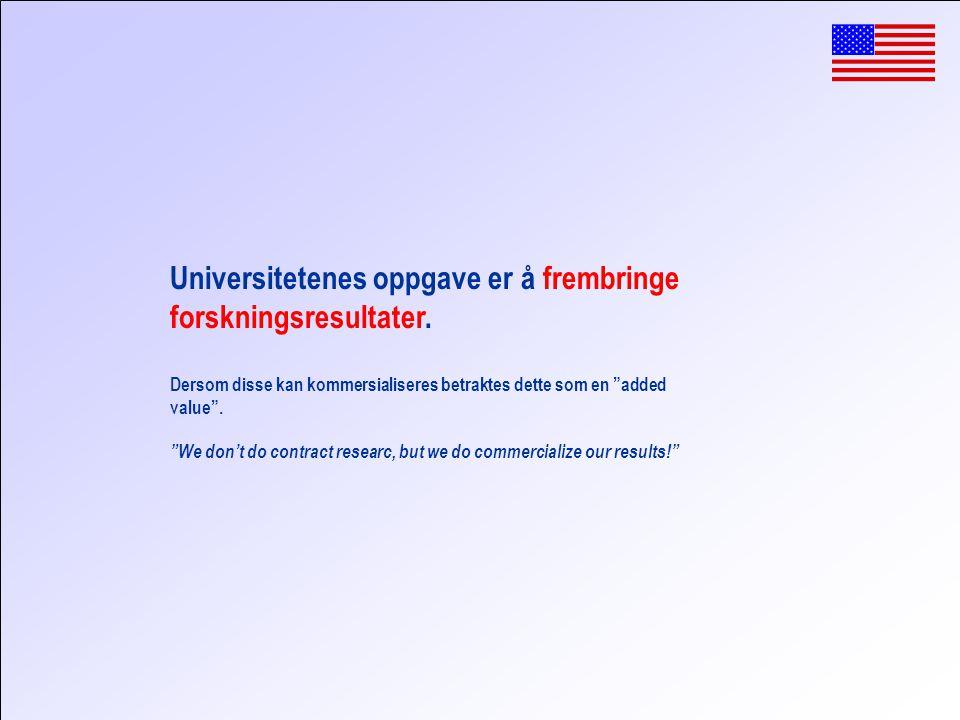 Universitetenes oppgave er å frembringe forskningsresultater.