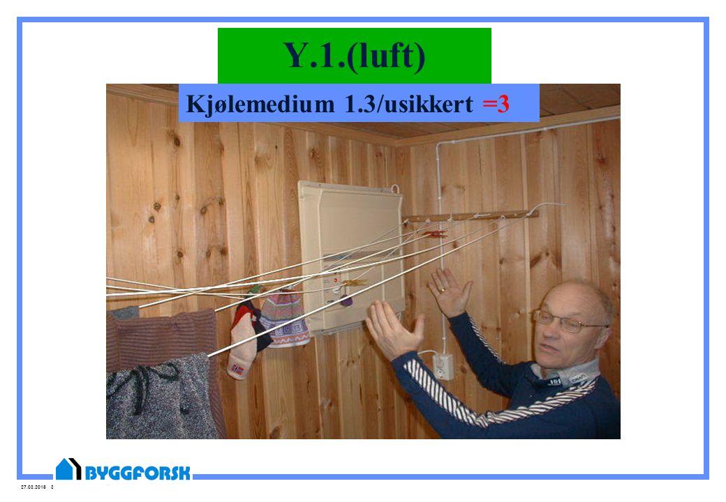 27.03.2015 36 Y.1.(luft) Kjølemedium 1.3/usikkert =3