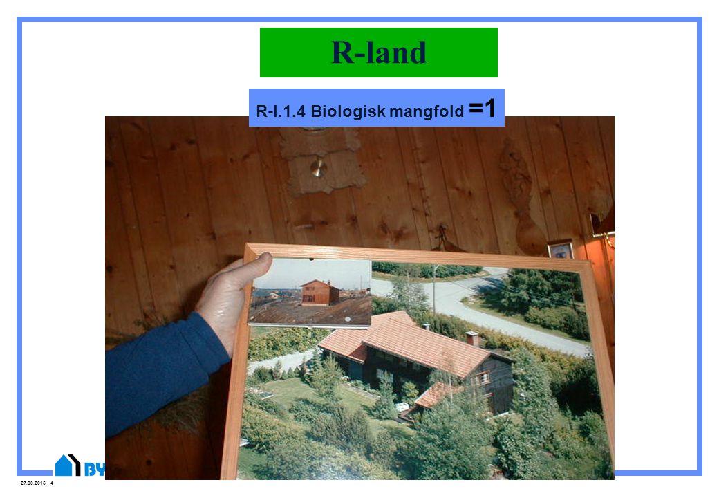 27.03.2015 44 R-land R-l.1.4 Biologisk mangfold =1