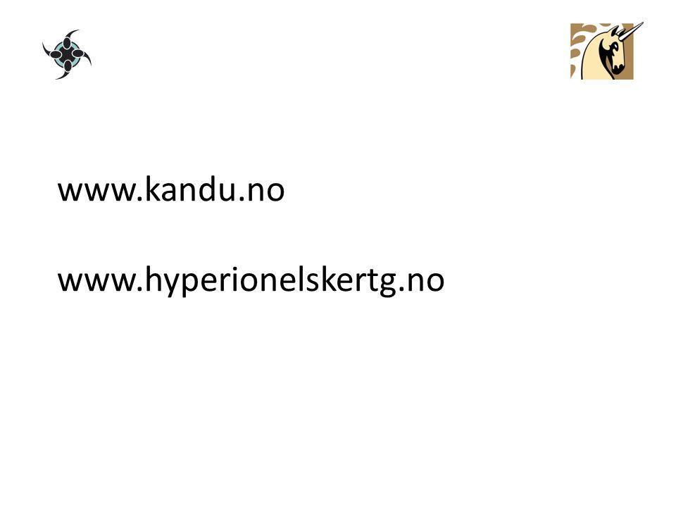 www.kandu.no www.hyperionelskertg.no