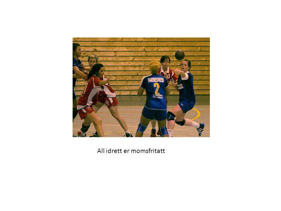 All idrett er momsfritatt