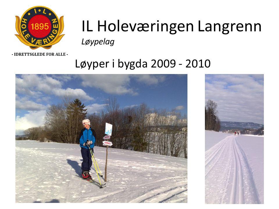IL Holeværingen Langrenn Løypelag Løyper i bygda 2009 - 2010