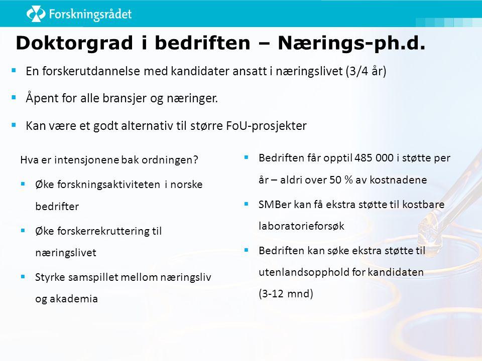 Doktorgrad i bedriften – Nærings-ph.d.