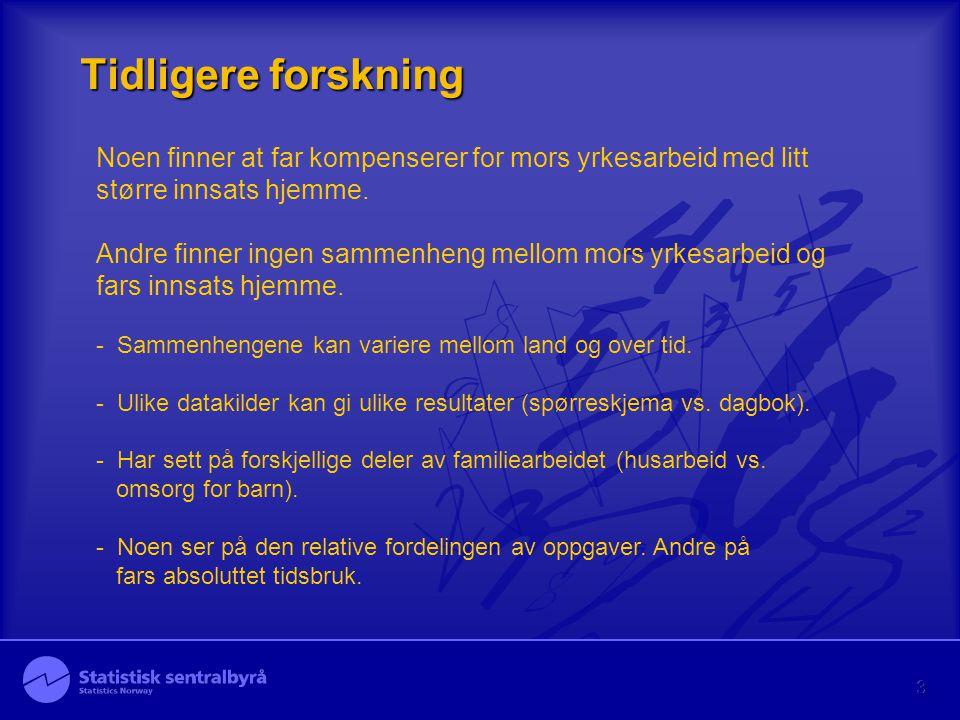 4 Data: Tidsbruksundersøkelsen 2000-01 - Dagbok.