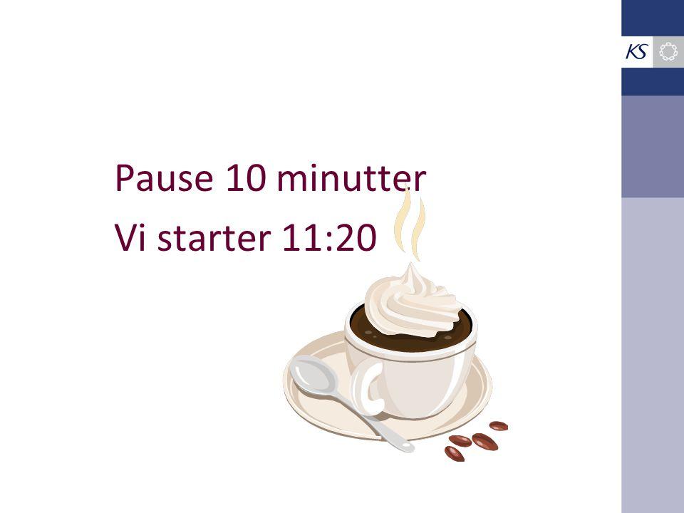 Pause 10 minutter Vi starter 11:20