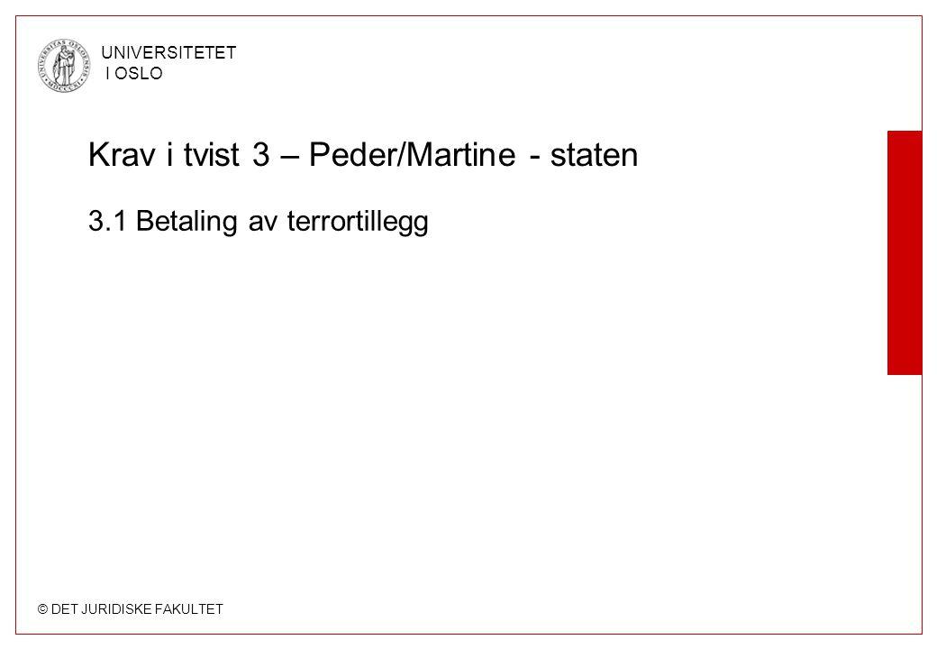 © DET JURIDISKE FAKULTET UNIVERSITETET I OSLO 1.2 Avbestilling a)Forutsatt at pakkereiseloven gjelder Spørsmål: Adgang til å avbestille.