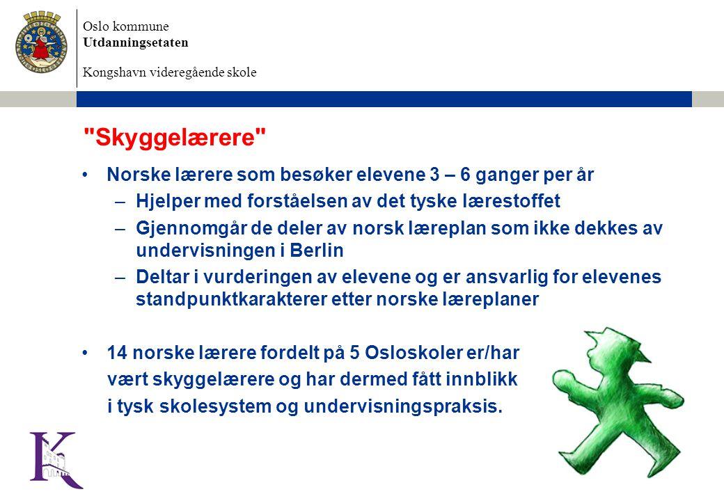 Oslo kommune Utdanningsetaten Kongshavn videregående skole 3/27/2015 Dokumentnavn 12