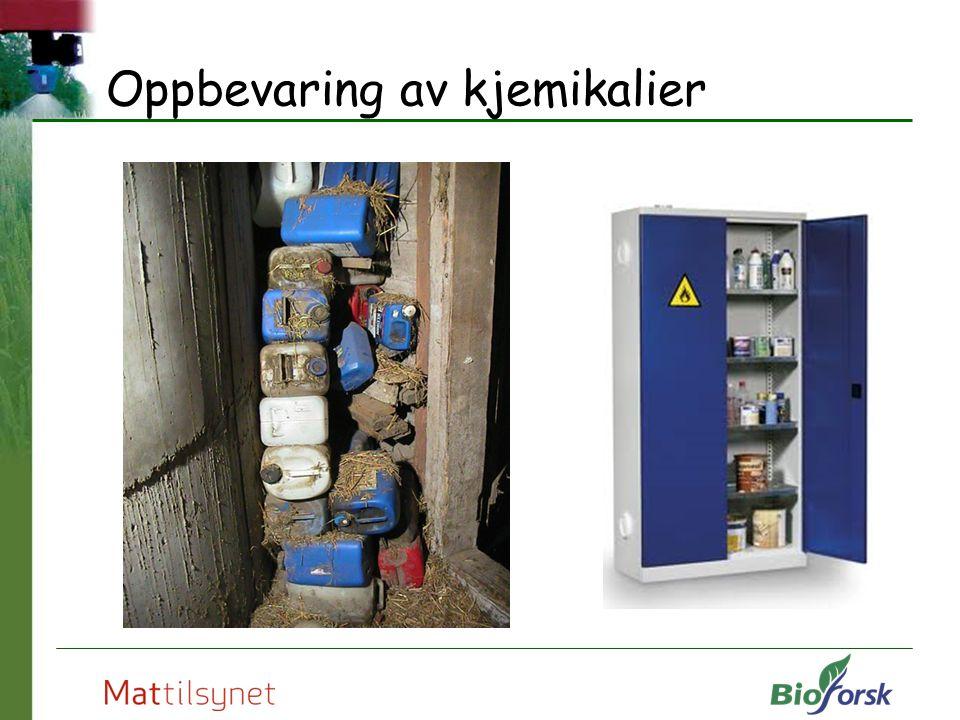 Oppbevaring av kjemikalier