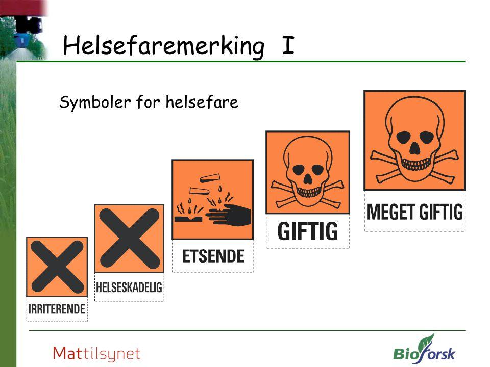 Helsefaremerking I Symboler for helsefare