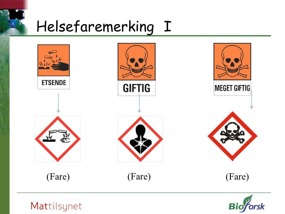 Helsefaremerking I Symboler for helsefare (Fare)